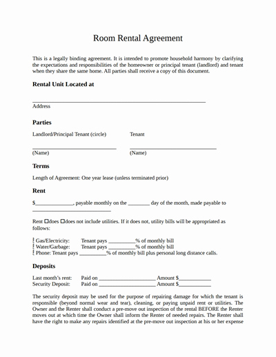 Generic Lease Agreement Pdf Luxury Room Rental Agreement Template Free Download Create