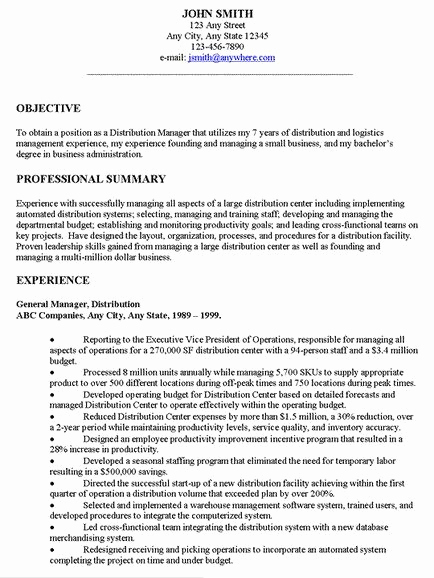 Generic Objective for Resume Awesome Examples Resume General Objectives