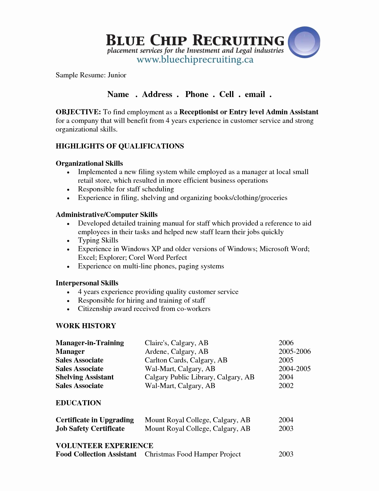 Generic Objective for Resume Best Of Pin by Job Resume On Job Resume Samples
