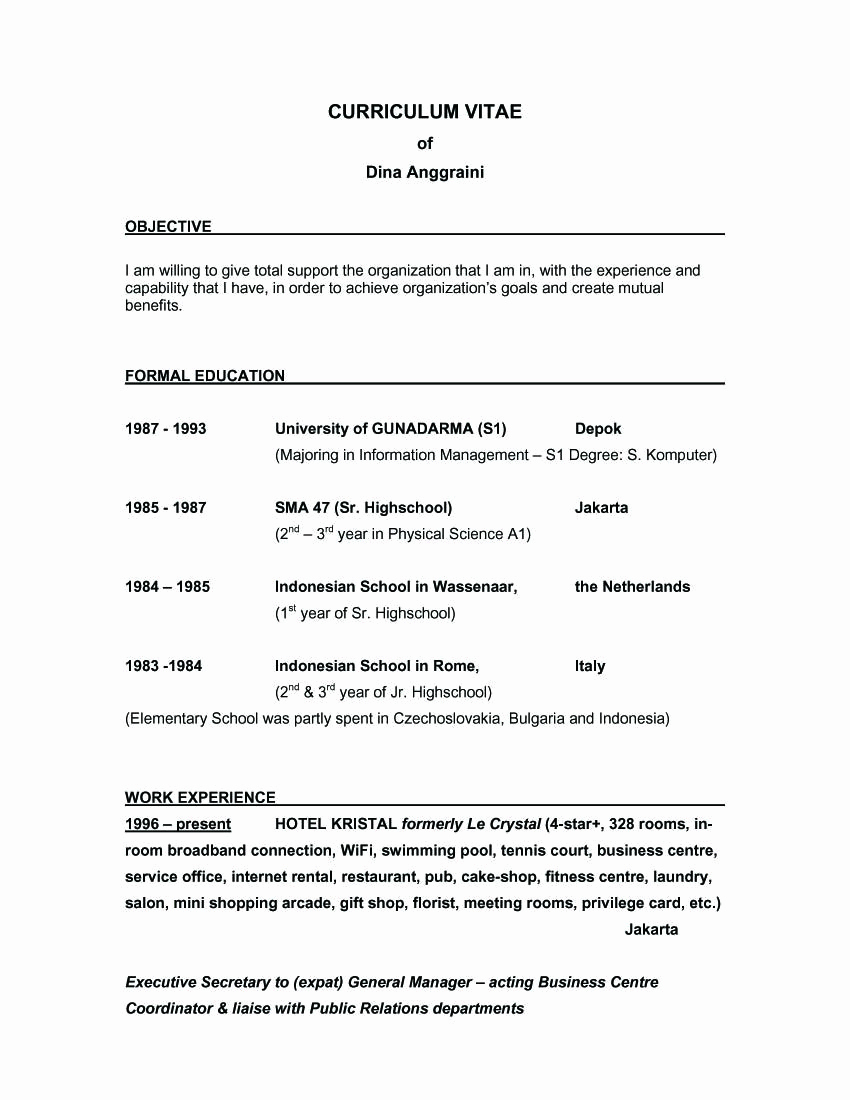 Generic Objective for Resume Elegant Sample Resume Objective Statements General