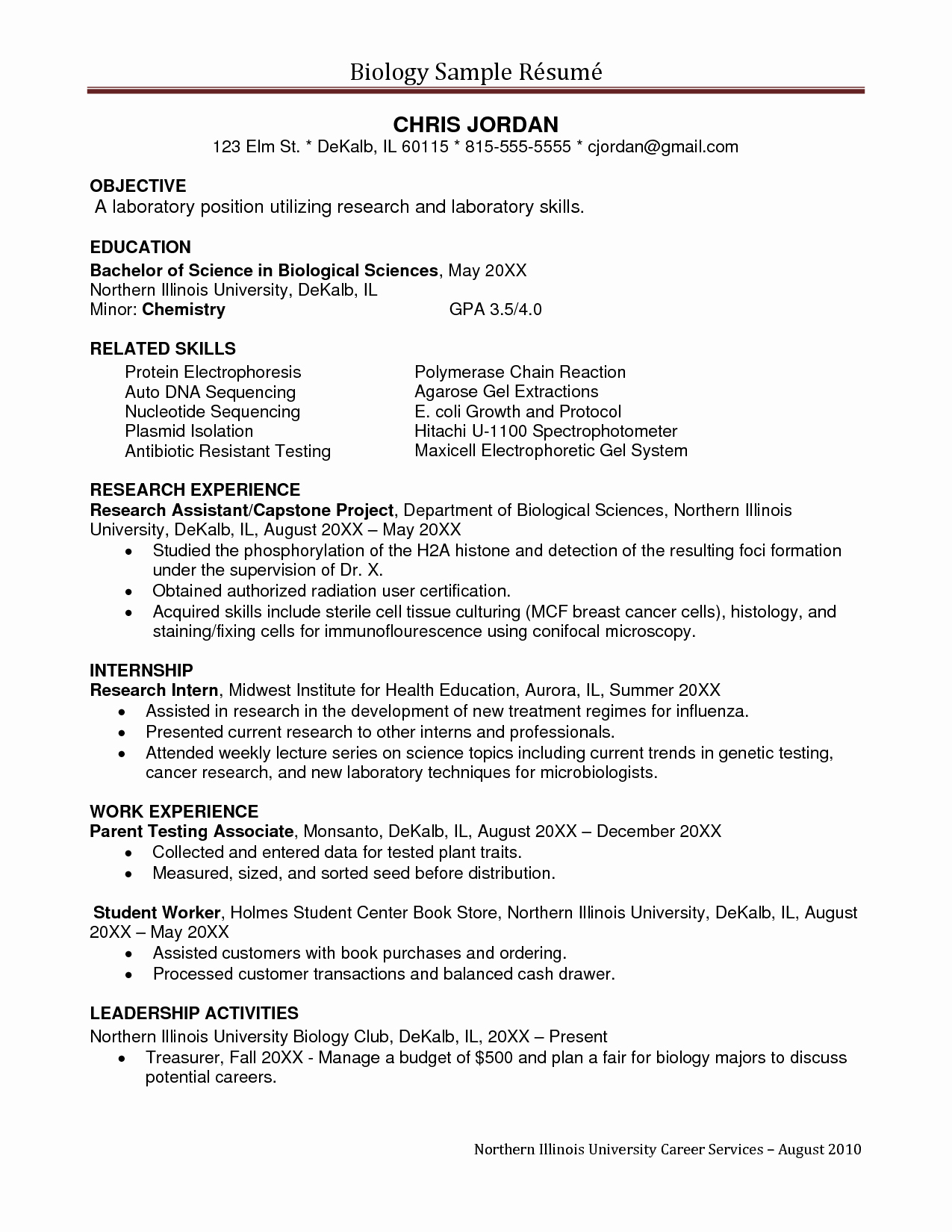 Generic Objective for Resume Elegant Sample Undergraduate Research assistant Resume Sample ĺ