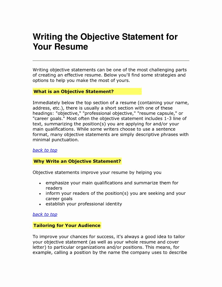 Generic Objective for Resume Fresh Best 25 Career Objective Examples Ideas On Pinterest