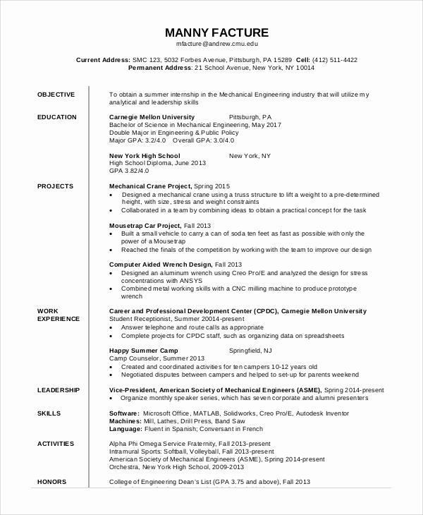 Generic Objective for Resume Lovely General Resume Objective Sample 9 Examples In Pdf