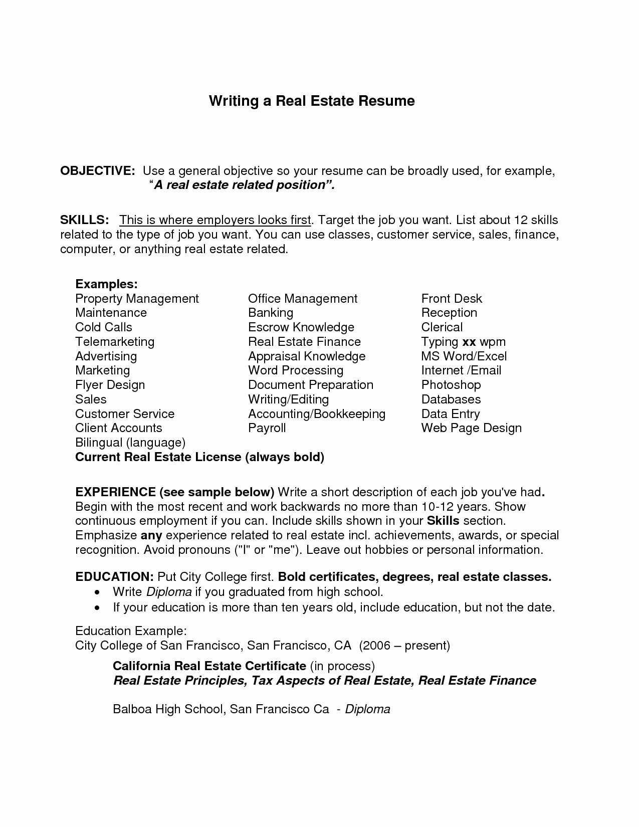 Generic Objective for Resume New General Resume Objective Examples Job Resume Objective