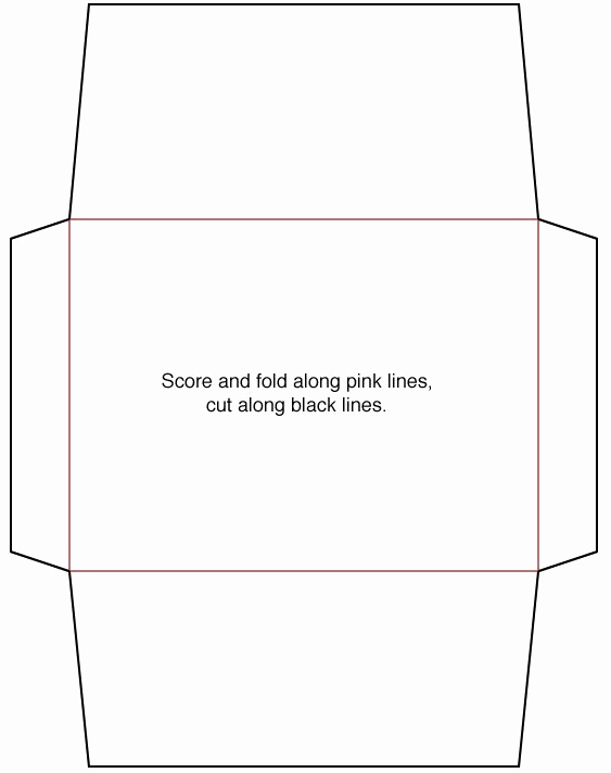 Gift Card Envelope Template Awesome Envelope Template Make Pinterest