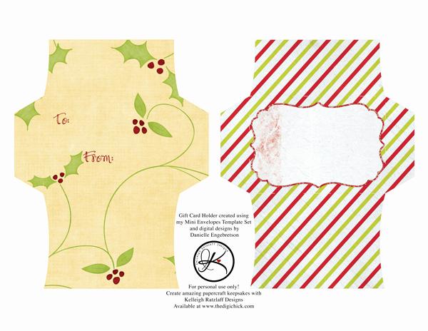 Gift Card Envelope Template Luxury Gift Card Envelope Freebie