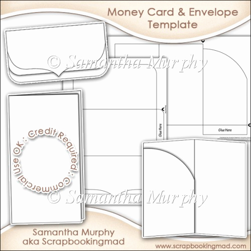 Gift Card Envelope Template Luxury Money Gift Card & Envelope Template Mercial Use £3 50