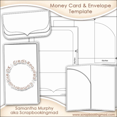 Gift Card Envelope Template New Money Gift Card & Envelope Template Mercial Use £3 50