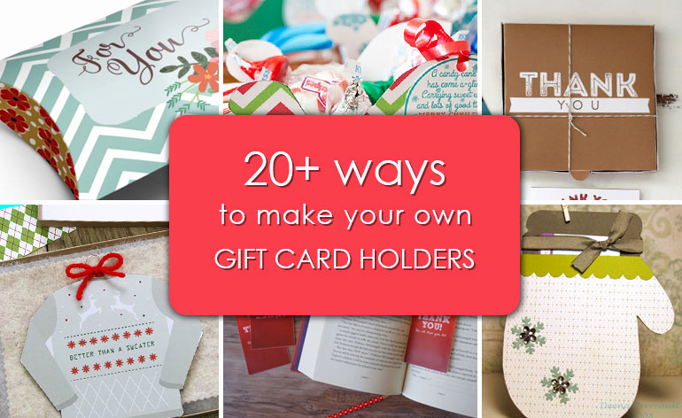 Gift Card Holder Template Awesome 20 Ways to Make Your Own Gift Card Holders