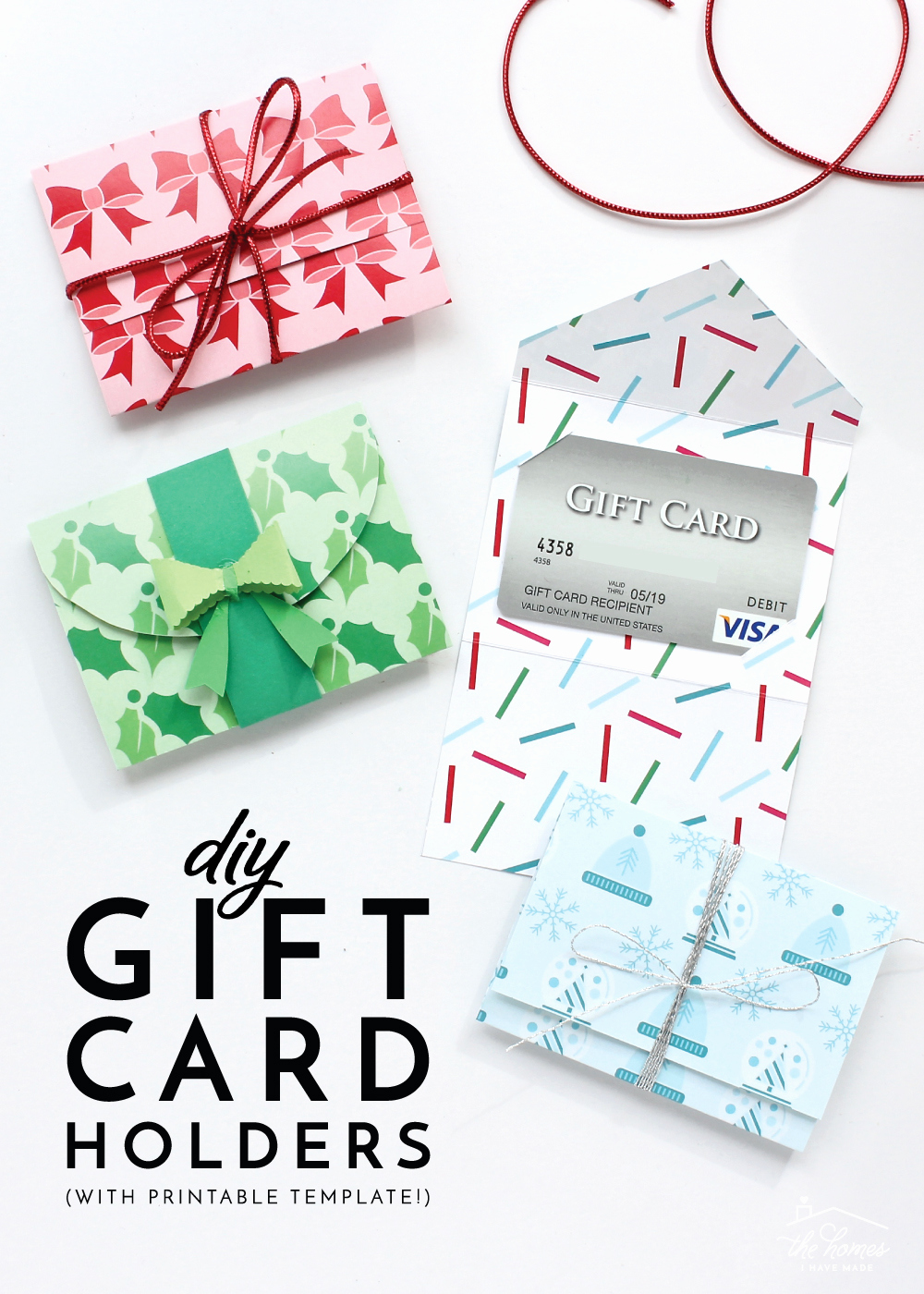 diy t card holders with printable template