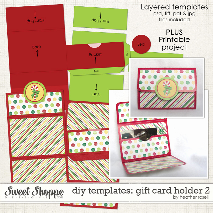 Gift Card Holder Template New Sweet Shoppe Designs Making Your Memories Sweeter