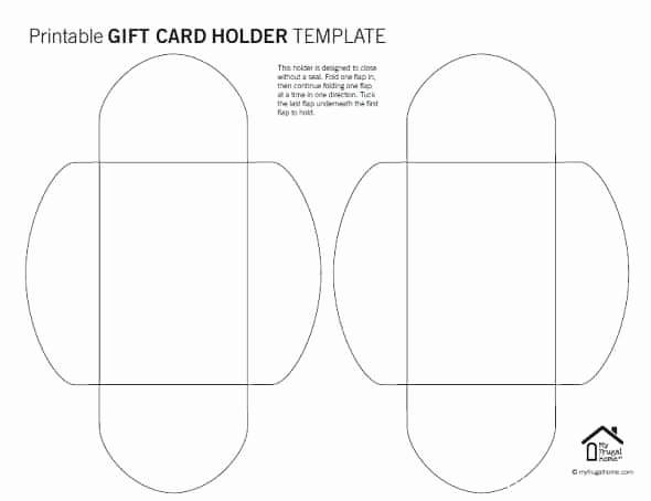 Gift Card Holder Template Unique Printable Gift Card Holder Templates