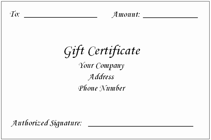 Gift Card Template Word Awesome Gift Certificate Template Word