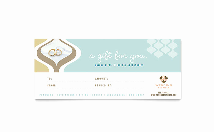 Gift Card Template Word Beautiful Wedding Store & Supplies Gift Certificate Template Word