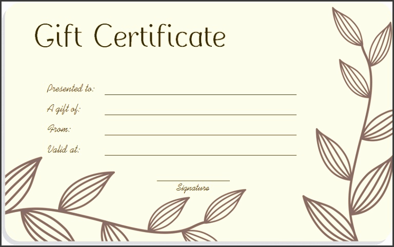 Gift Card Template Word Best Of 5 Printable Blank Gift Certificates Sampletemplatess