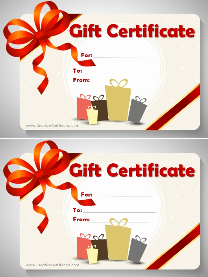 Gift Card Template Word Elegant Free Gift Certificate Template