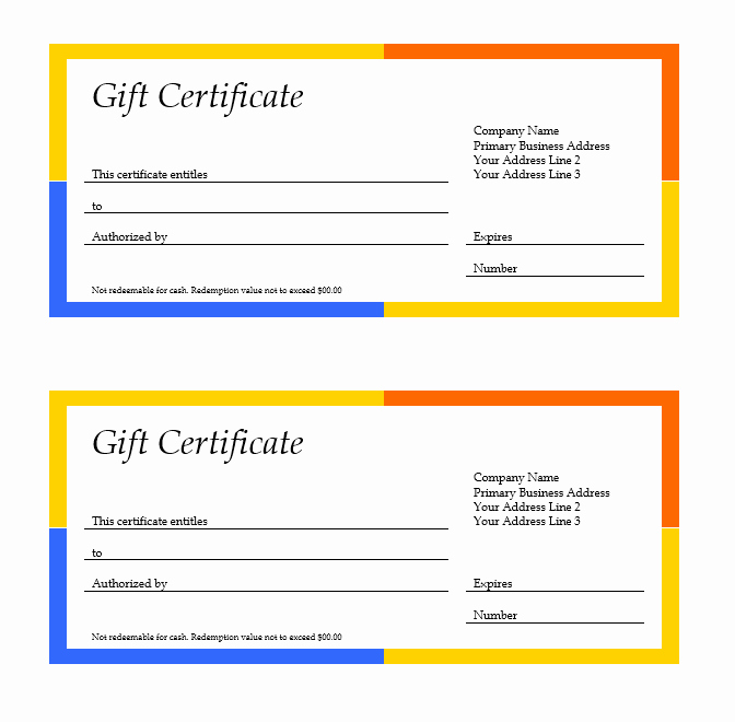 Gift Card Template Word Inspirational 11 Free Gift Certificate Templates – Microsoft Word Templates