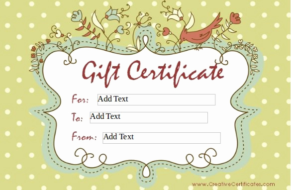 Gift Card Template Word Luxury 30 Blank Gift Certificate Templates Doc Pdf