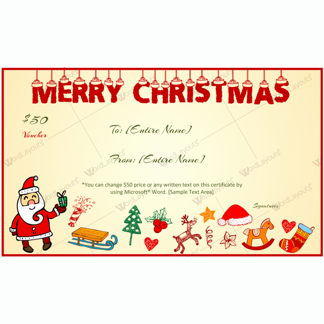 Gift Card Template Word Luxury Christmas Hangings Gift Certificate Template Word Layouts