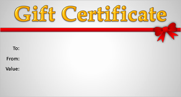 Gift Card Template Word Luxury Gift Certificate Template – 34 Free Word Outlook Pdf