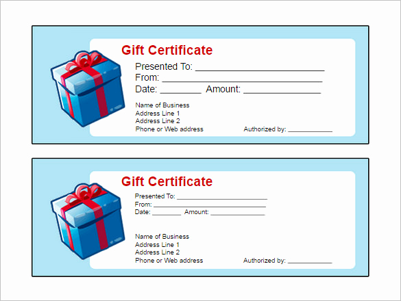 Gift Card Template Word Unique Gift Certificate Template – 34 Free Word Outlook Pdf