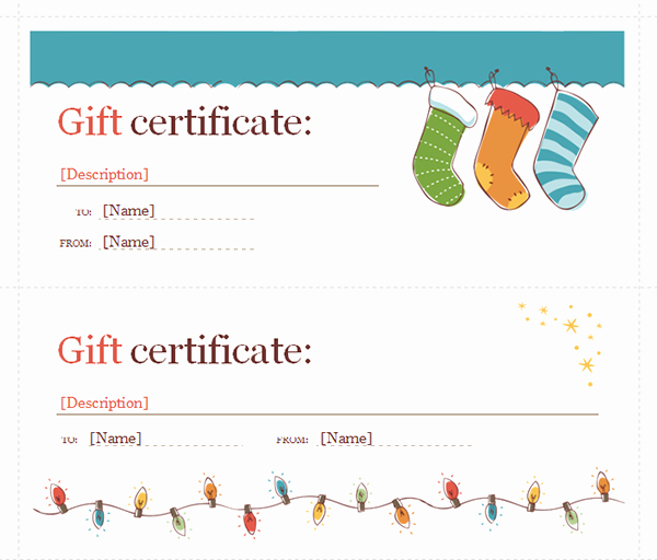Gift Card Template Word Unique Printable Gift Certificate Templates