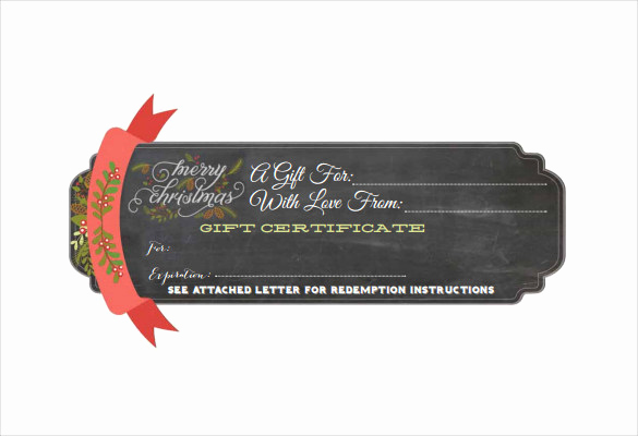 Gift Certificate Template Pdf Awesome 20 Christmas Gift Certificate Templates Word Pdf Psd