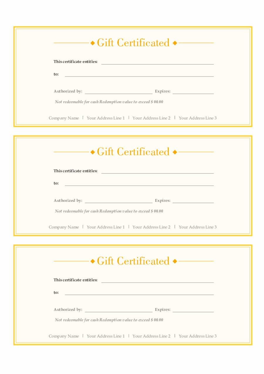 Gift Certificate Template Pdf Awesome 2019 Gift Certificate form Fillable Printable Pdf