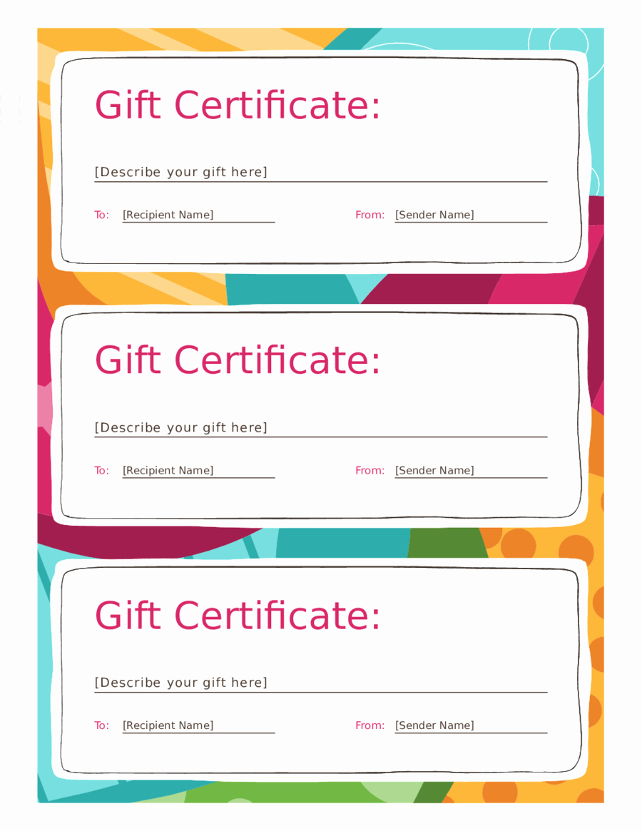Gift Certificate Template Pdf Beautiful 2018 Gift Certificate form Fillable Printable Pdf