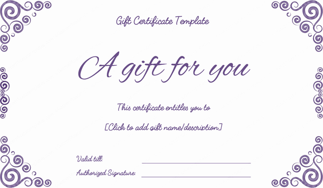Gift Certificate Template Pdf Best Of Purple Free Printable T Certificates Pdf