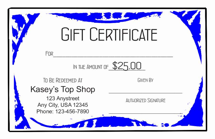 Gift Certificate Template Pdf Elegant 2018 Gift Certificate form Fillable Printable Pdf
