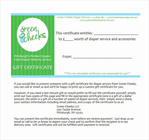 Gift Certificate Template Pdf Elegant 30 Blank Gift Certificate Templates Doc Pdf
