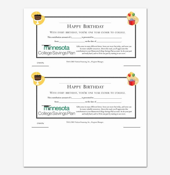 Gift Certificate Template Pdf Elegant 44 Free Printable Gift Certificate Templates for Word & Pdf