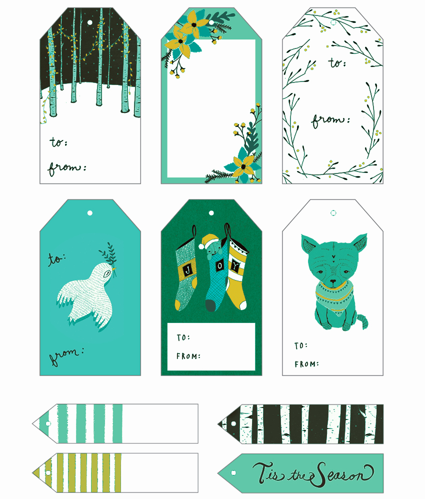 Gift Tag Template Free Beautiful 5 Gift Tag Templates to Create A Personalized Gift Tag