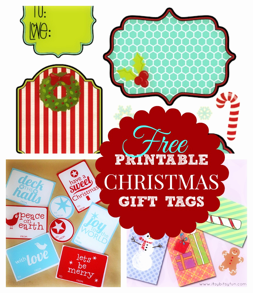 Gift Tag Template Free Beautiful Printable Christmas Gift List What Mommy Does