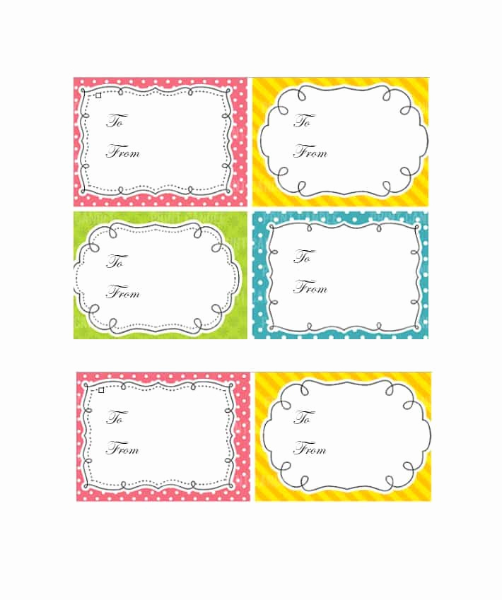 Gift Tag Template Free Fresh 44 Free Printable Gift Tag Templates Template Lab