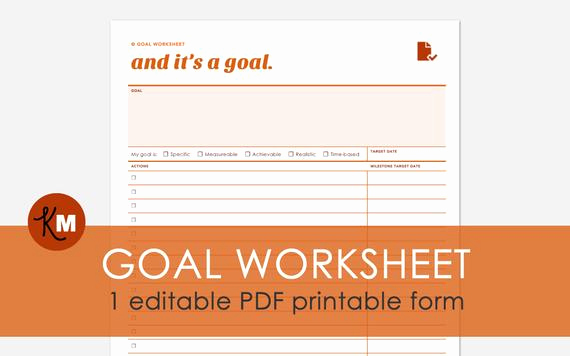 Goal Setting Worksheet Pdf Beautiful Goal Planning Worksheet 1 Editable Goal Setting Pdf File