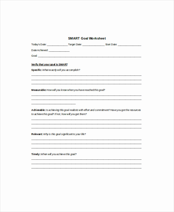 Goal Setting Worksheet Pdf Elegant 8 Smart Goal Worksheet Templates Doc Pdf