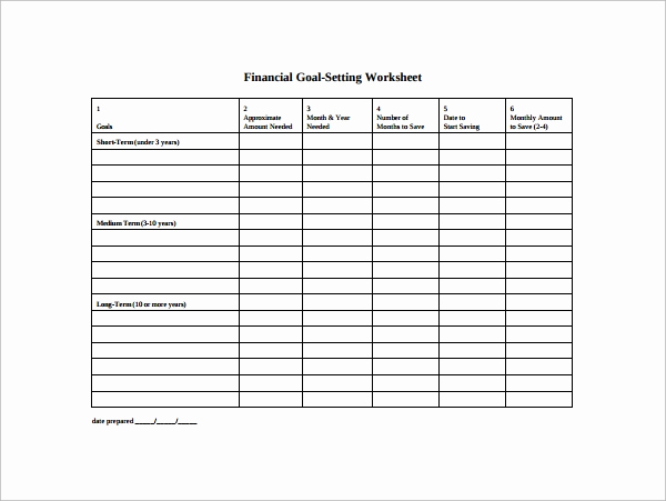 Goal Setting Worksheet Pdf Elegant Goal Setting Template 12 Download Free Documents In Pdf