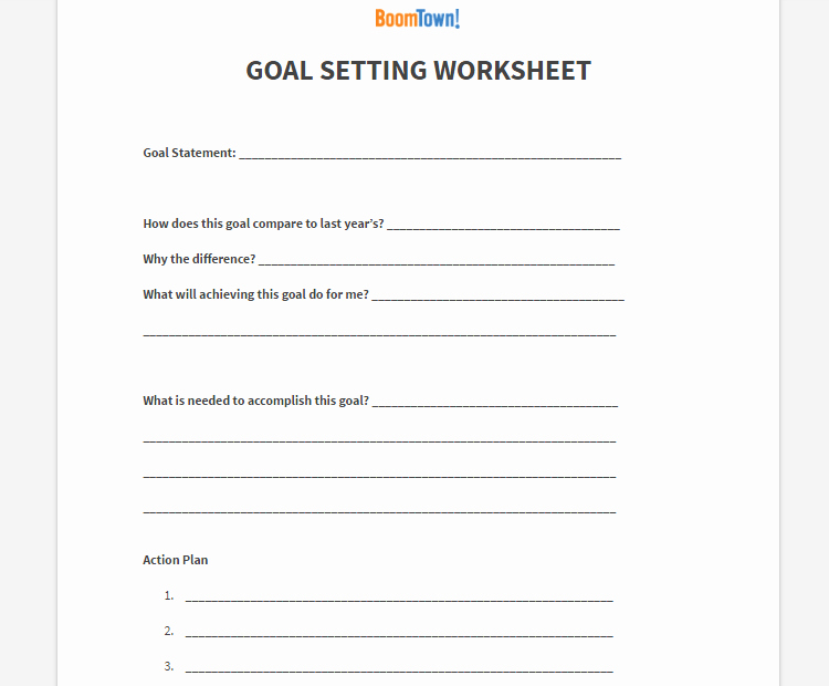 Goal Setting Worksheet Pdf Lovely Goal Setting Archives Boomtown