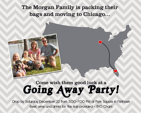 Going Away Party Invitation Awesome Going Away Party Invitation Moving Farewell Party