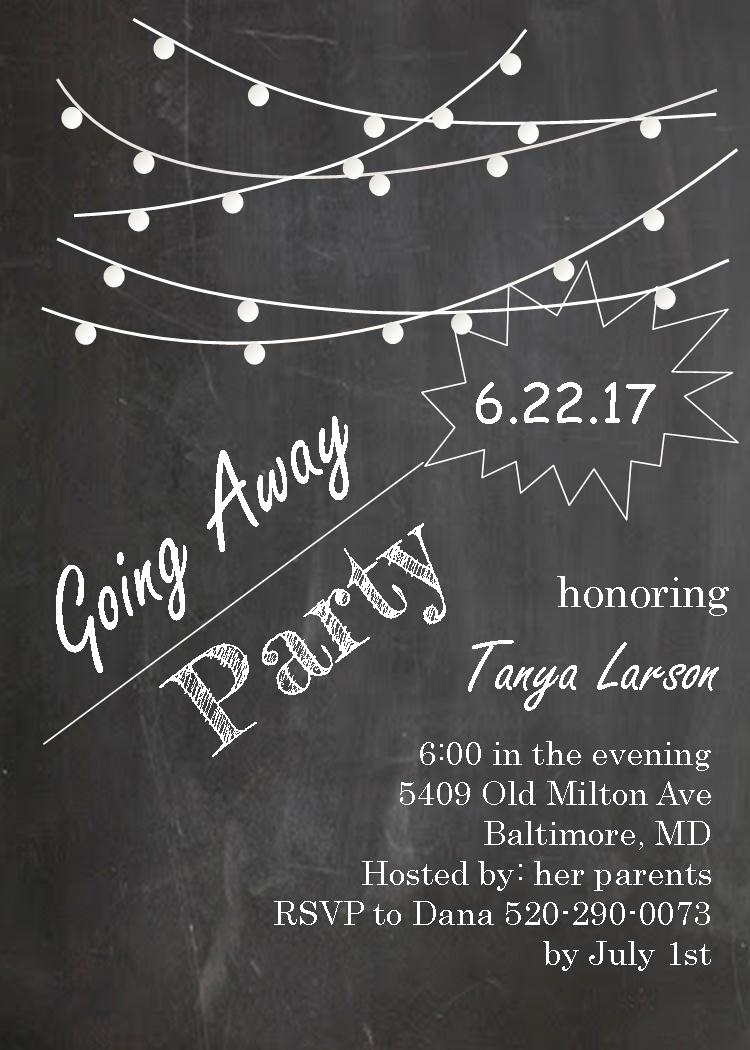 Going Away Party Invitation Awesome Going Away Party Invitations New Selections 2017