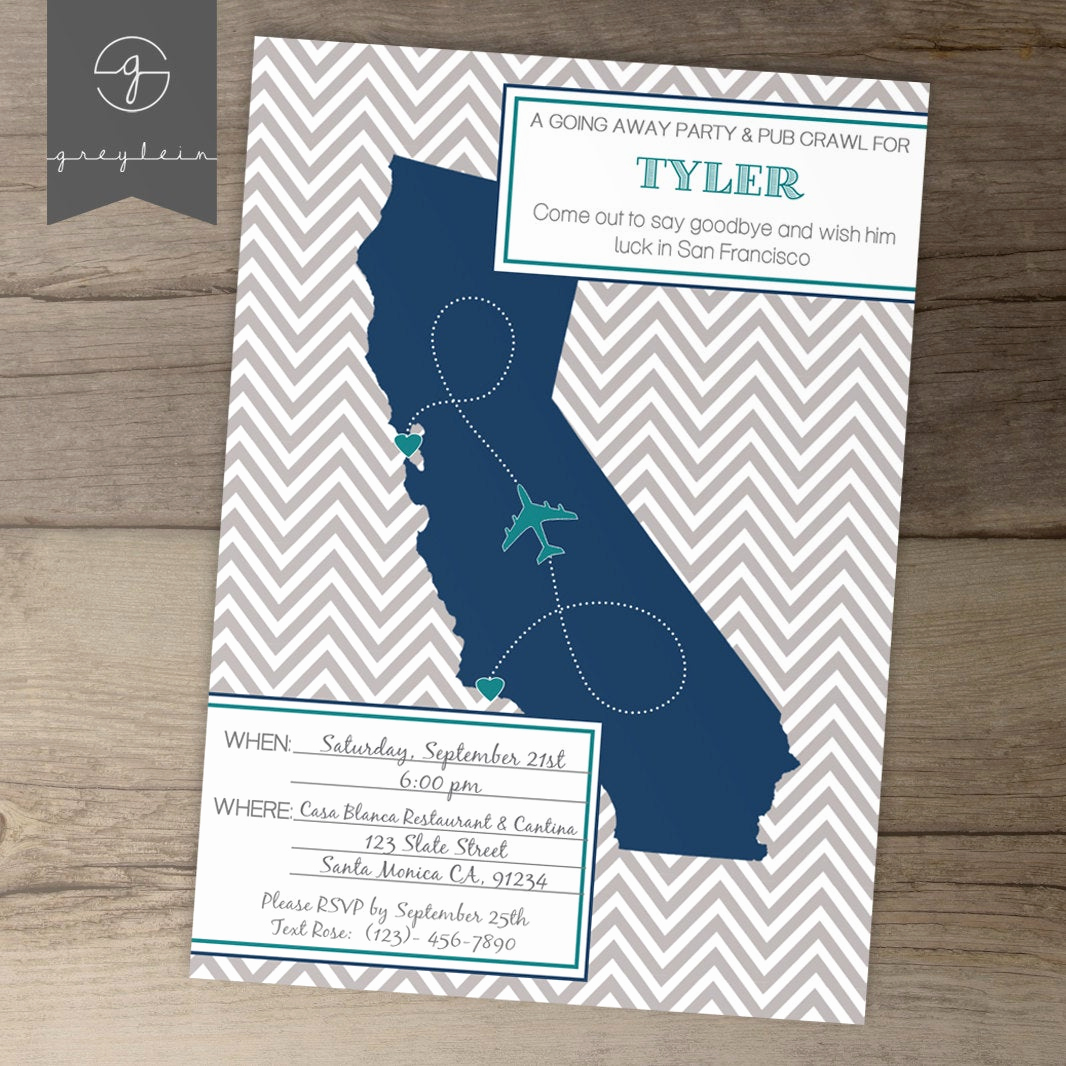 Going Away Party Invitation Elegant Going Away Party Invitations Invites Single State by