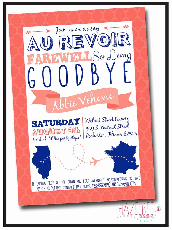 Going Away Party Invitation Fresh 24 Best Images About Going Away On Pinterest