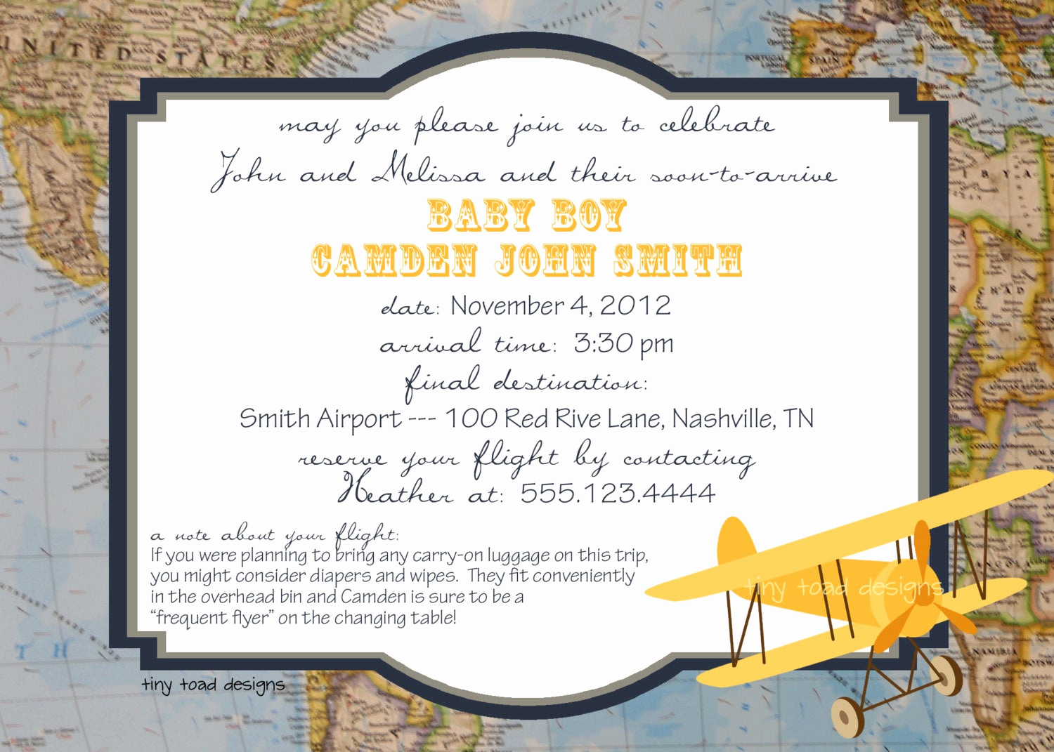 Going Away Party Invitation Fresh Aviation Map Baby Shower Invitations or Going Away Party