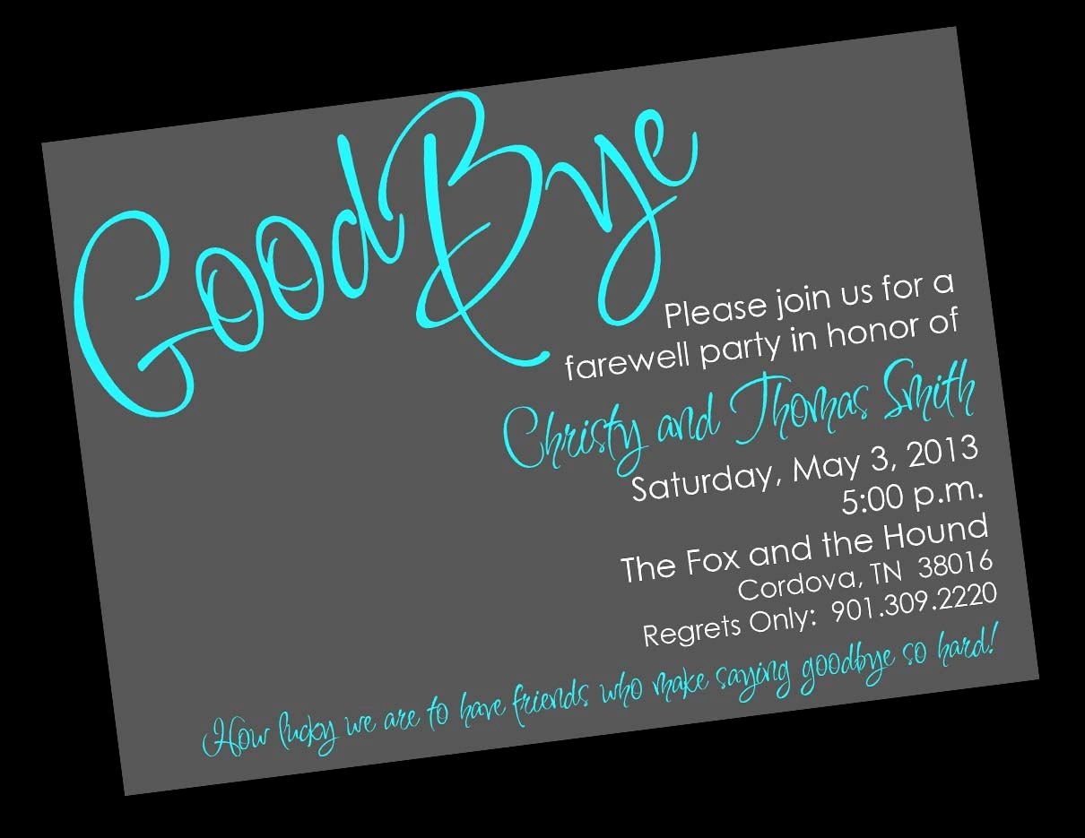 Going Away Party Invitation Fresh Free Printable Invitation Templates Going Away Party