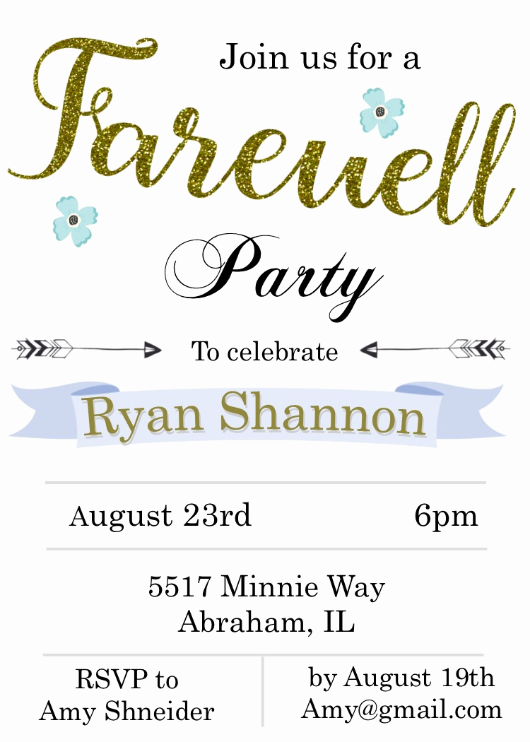 Going Away Party Invitation Fresh Going Away Party Invitations New Selections Summer 2018