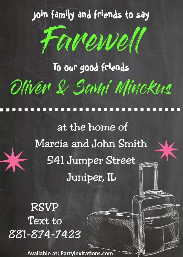Going Away Party Invitation Lovely Going Away Party Invitations New Selections Summer 2019