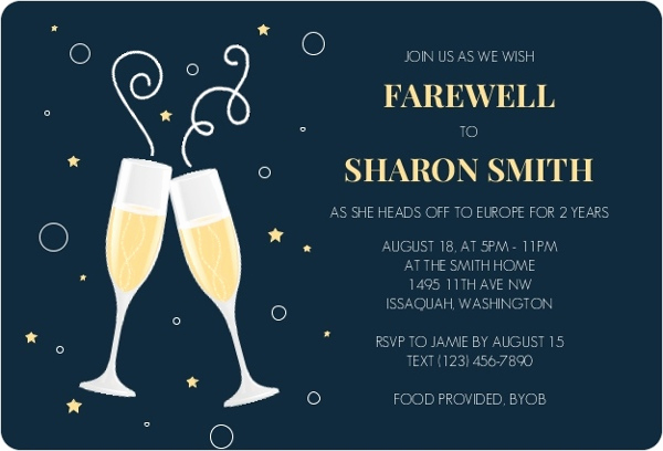 Going Away Party Invitation Lovely Moving Farewell Party Invitation