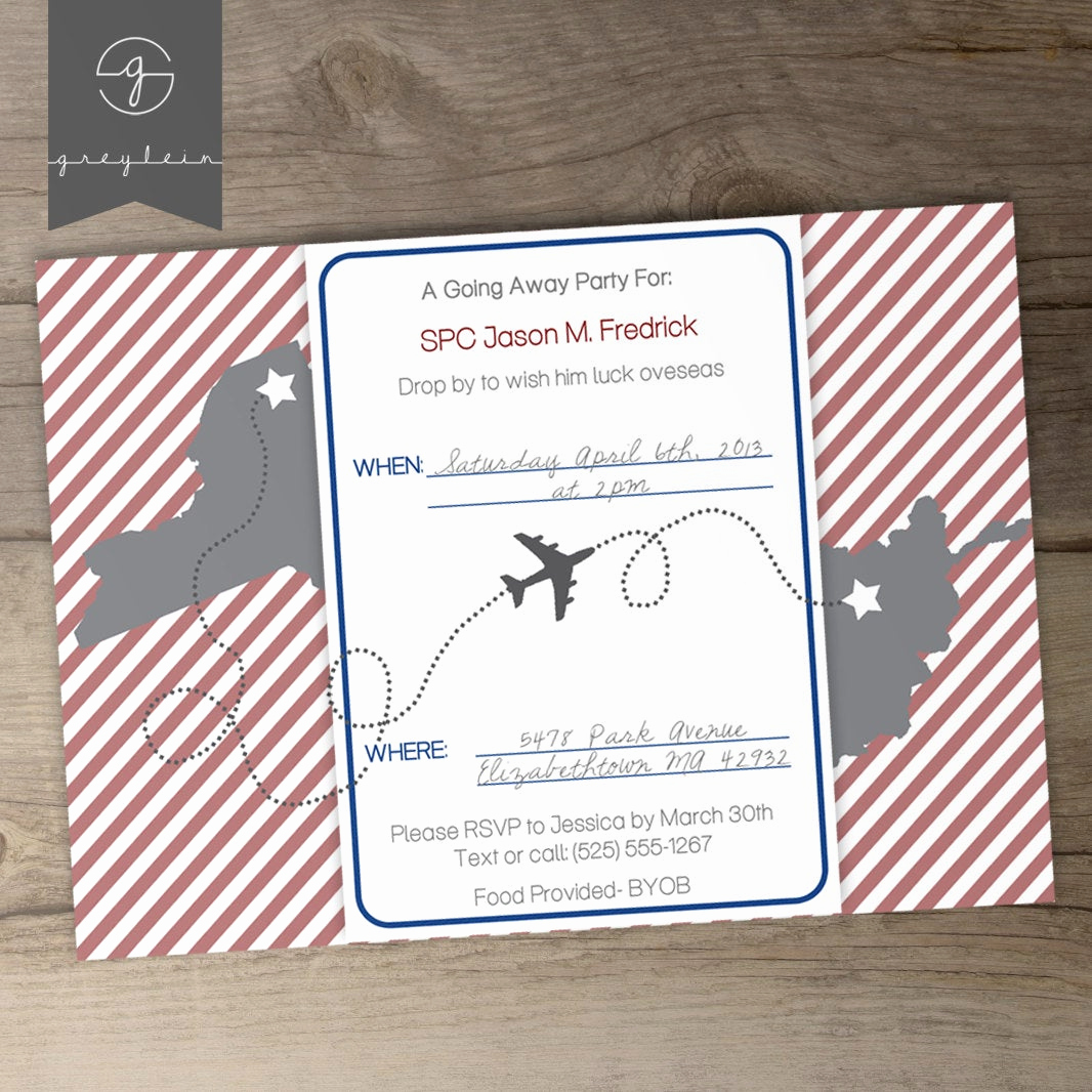 Going Away Party Invitation Lovely Moving Going Away Party Invitations or Announcements Diy